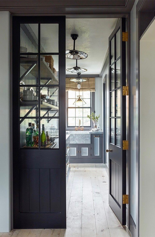 walk in pantry dark cabinets
