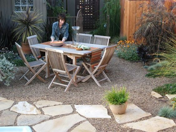 dining table xeriscape