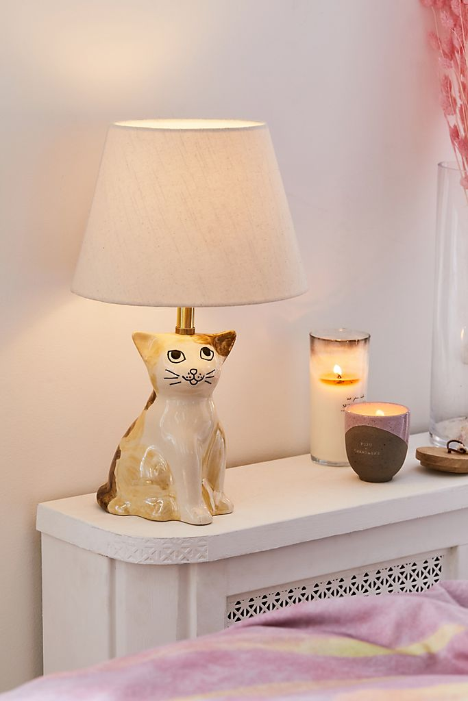 Ceramic Cat Lamp