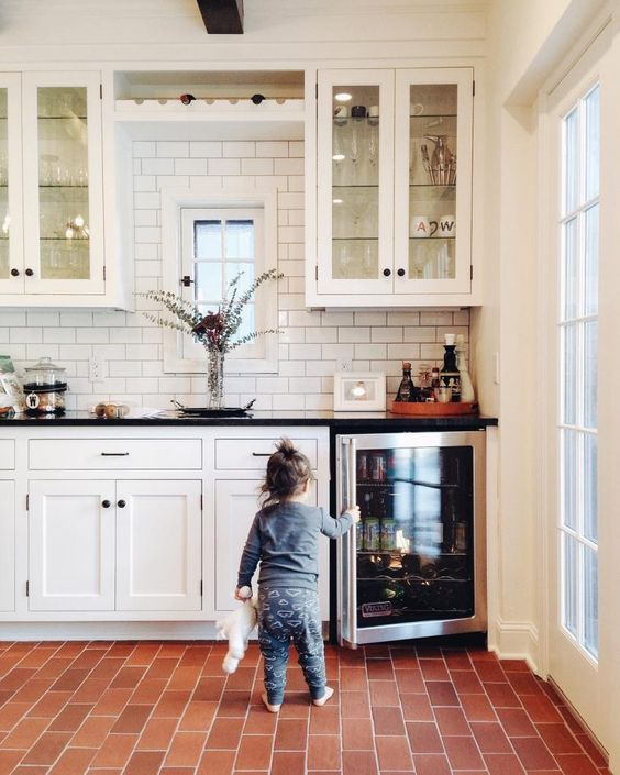 Kitchen Flooring Trend: Follow the Red Brick Floor – The ...