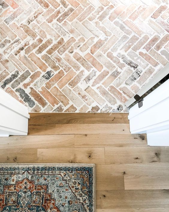antique herringbone tile