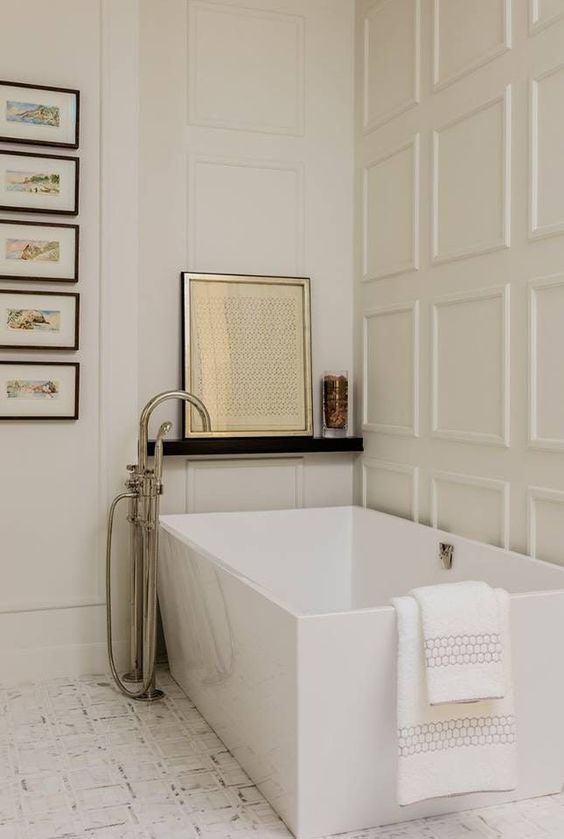 rectangular tub