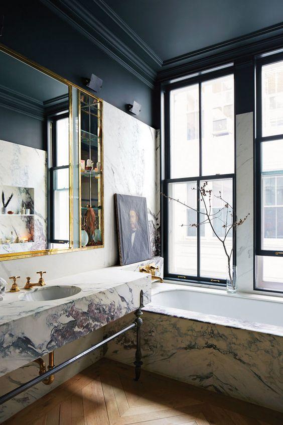 marble clad tub
